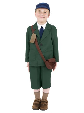 World War II Evacuee Boy Costume, Green