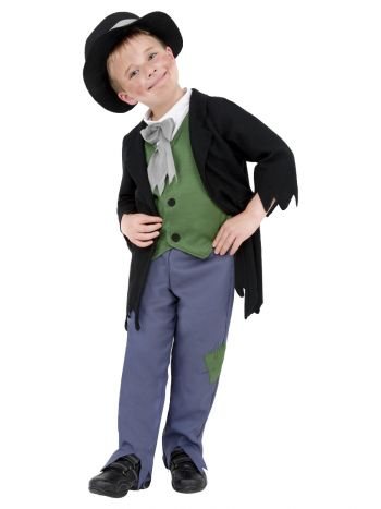 Dodgy Victorian Boy Costume, Black