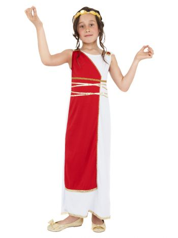 Grecian Girl Costume, Red