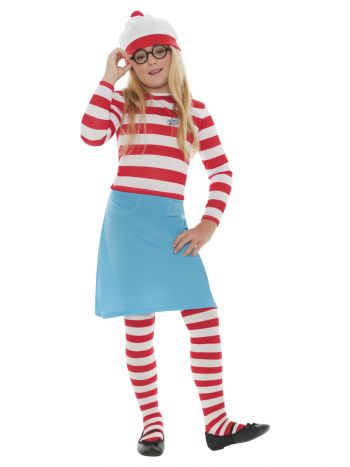 Where's Wally? Wenda Child Costume, Red & White