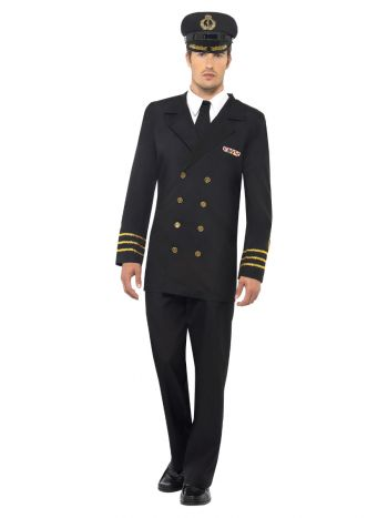 Navy Officer Costume, Black