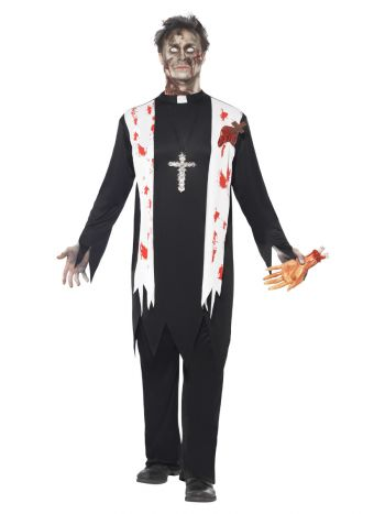 Zombie Priest Costume, Black