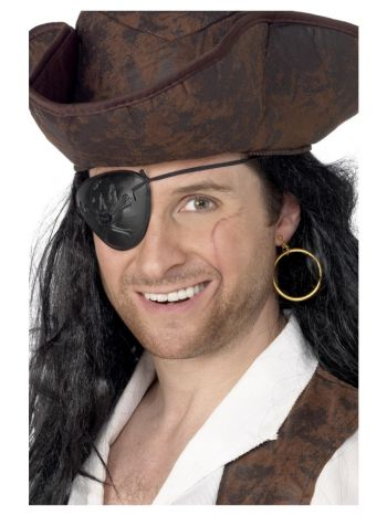 Pirate Eyepatch and Earring, Black