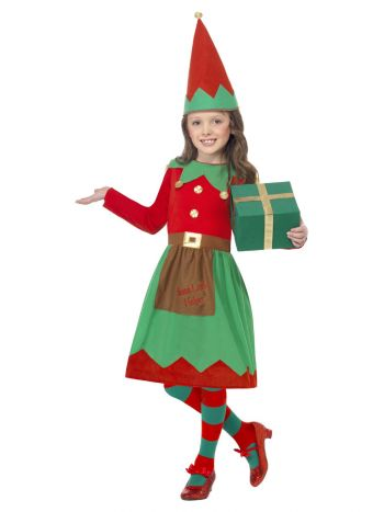 Santa's Little Helper Costume, Red & Green