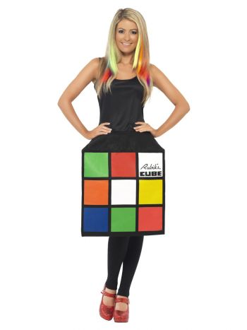 Rubik's Cube Costume, Multi-Coloured