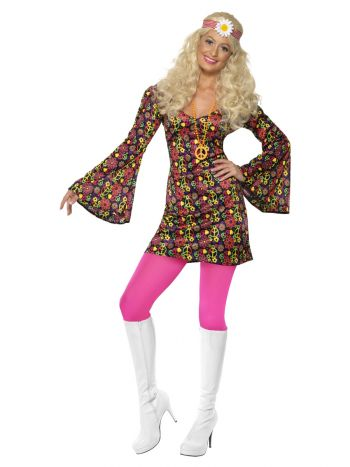 60s CND Costume, Multi-Coloured