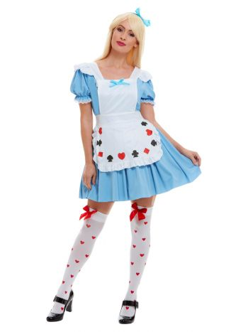 Deck of Cards Girl Costume, Blue