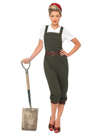 WW2 Land Girl Costume, Green