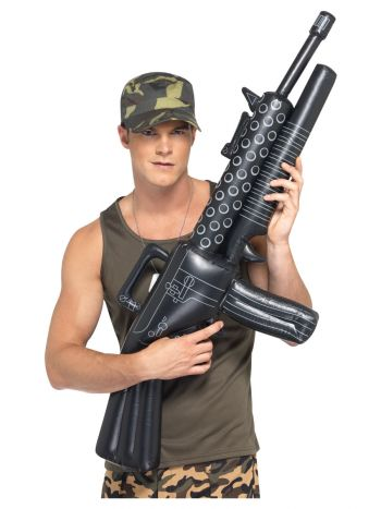 Inflatable Machine Gun, Black