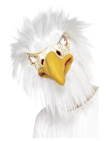 Eagle Mask, Full Overhead, White
