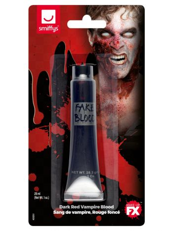 Smiffys Make-Up FX, Vampire Gel Blood, Dark Red