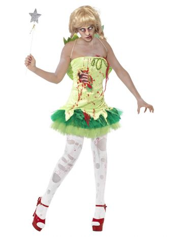 Zombie Fairy Costume, Green