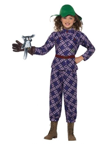 David Walliams Deluxe Awful Auntie Costume, Purple