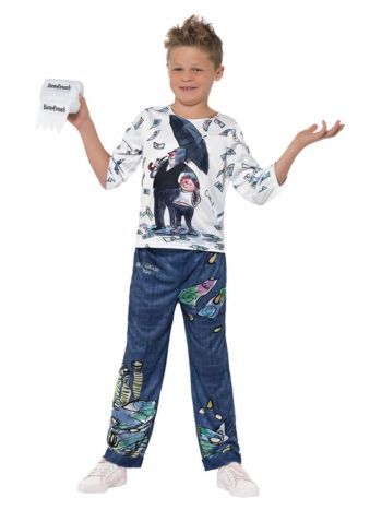 David Walliams Deluxe Billionaire Boy Costume, Blu