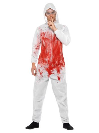 Bloody Forensic Overall Costume, Red