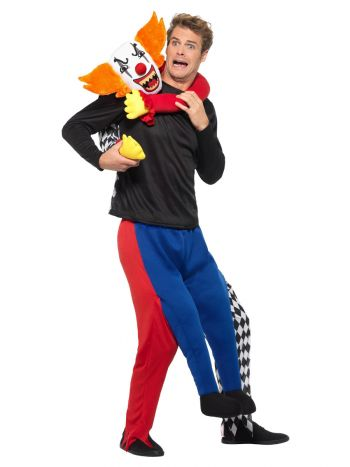 Piggyback Kidnap Clown Costume, Multi-Coloured
