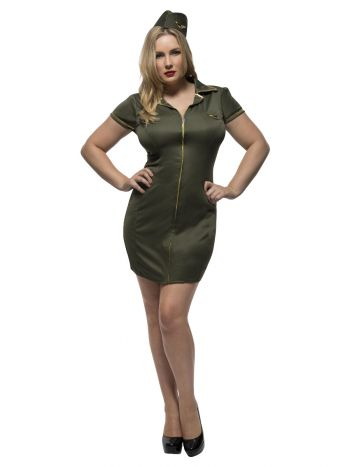 Fever Curves Army Costume, Khaki