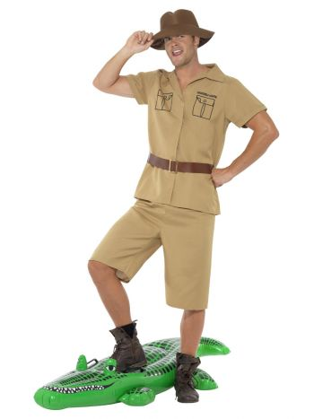 Safari Man Costume, Brown