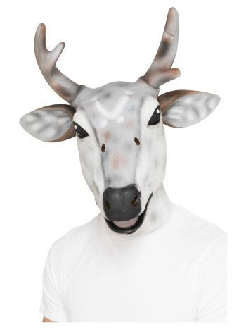 Reindeer/Stag Latex Mask, Grey