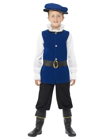 Tudor Boy Costume, Royal Blue