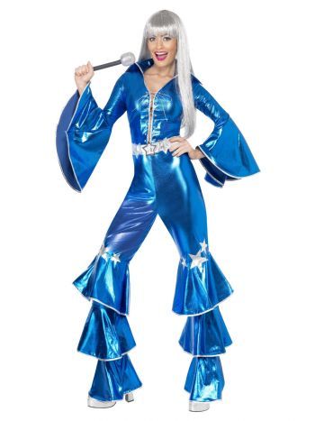 70s Dancing Dream Costume, Blue