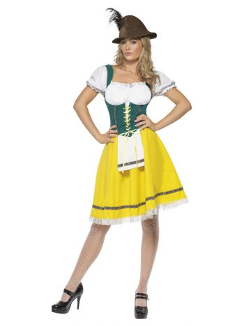 Oktoberfest Costume, Female, Yellow