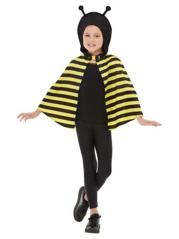Bumblebee Hooded Cape, Black & Yellow