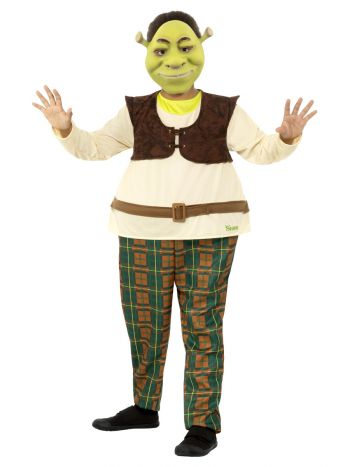 Shrek Kids Deluxe Costume, Green