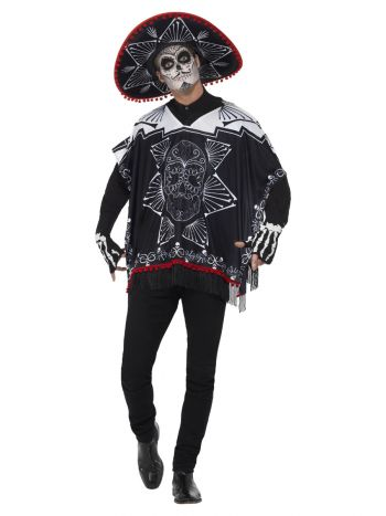 Day of the Dead Bandit Costume, Black & White