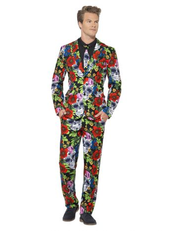 Day of the Dead Suit, Multi-Coloured