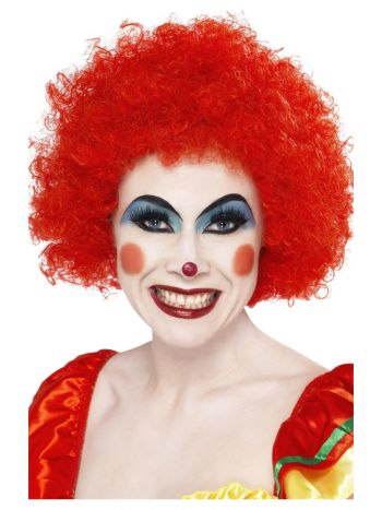 Crazy Clown Wig, Red