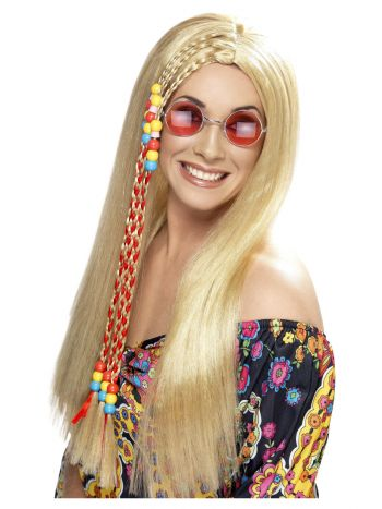 Hippy Party Wig, Blonde