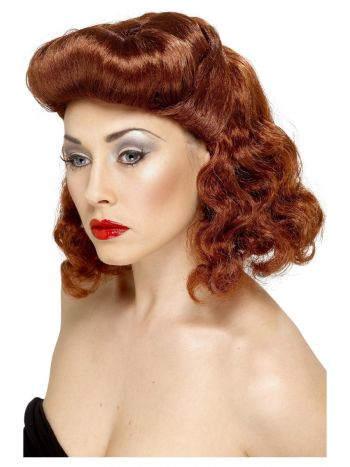 Pin Up Girl Wig, Auburn