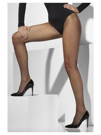 Lattice Net Tights, Black
