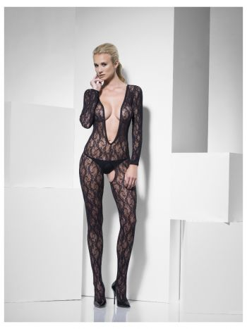 Lace Body Stocking, Black