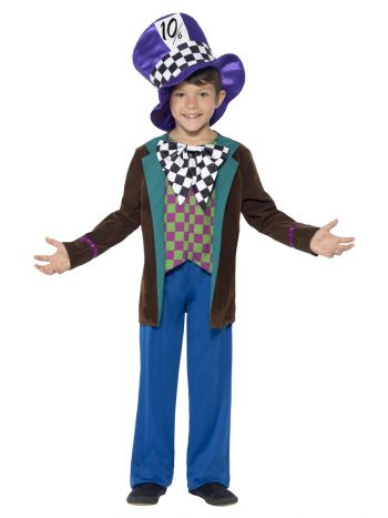 Deluxe Hatter Costume, Blue