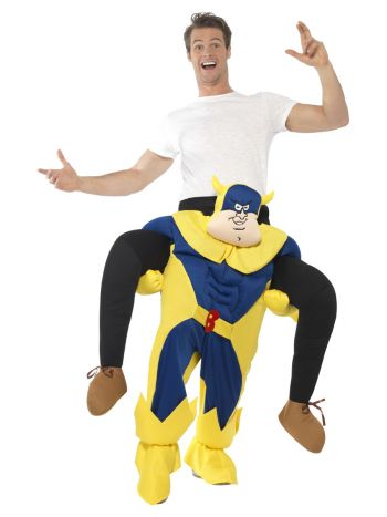 Bananaman Piggy Back Costume, Blue