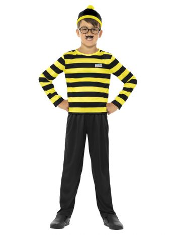 Where's Wally Odlaw Costume, Black & Yellow