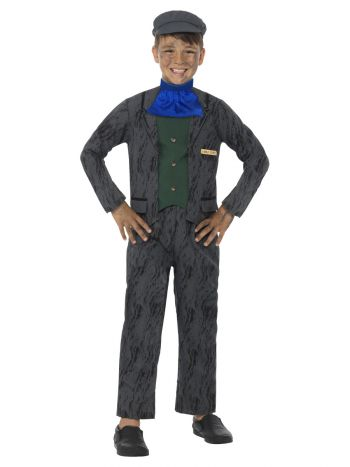 Horrible Histories Miner Costume, Grey