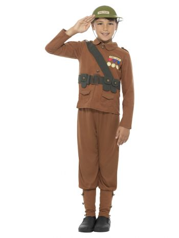 Horrible Histories Soldier Costume, Brown