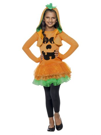 Pumpkin Tutu Dress Costume, Orange