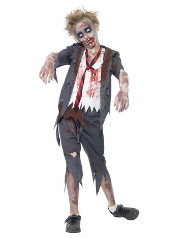 Zombie School Boy Costume, Grey