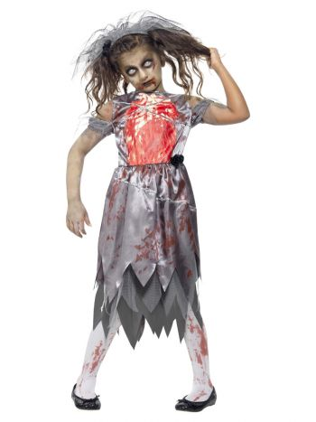 Zombie Bride Costume, Grey