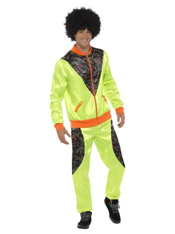 Retro Shell Suit Costume, Mens
