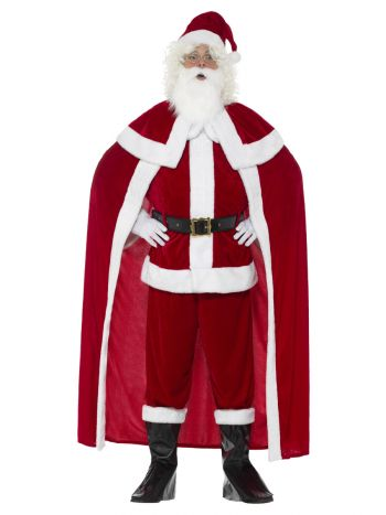 Deluxe Santa Claus Costume with Trousers, Red