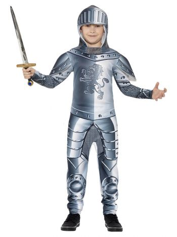 Deluxe Armoured Knight Costume, Grey