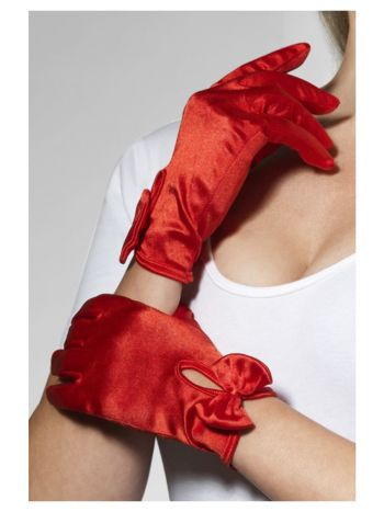 Gloves, Short, Red