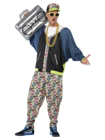 80s Hip Hop Costume, Patterned