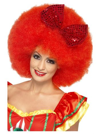 Mega Afro Clown Wig, Red