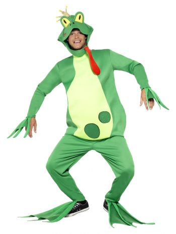 Frog Prince Costume, Top with Attached Gloves, Gre